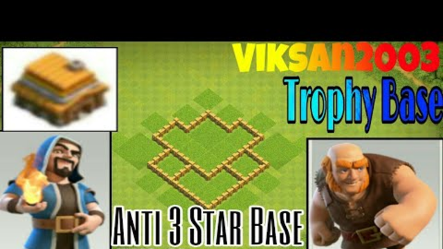 Clash of Clans Anti 3 Star Base for Th4 Max Trophy Base for growing up in league | Viksan2003