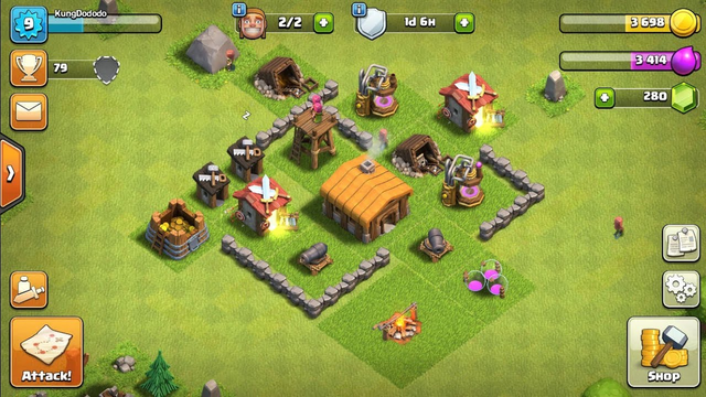 Clash of clans Town hall 2 max base | Andro Tech18
