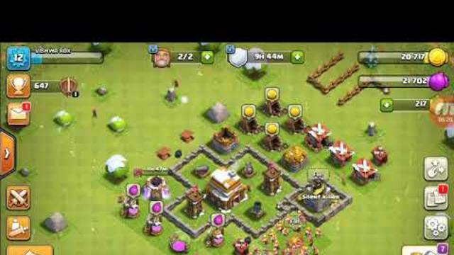 Clash of clans game play game play TH 4