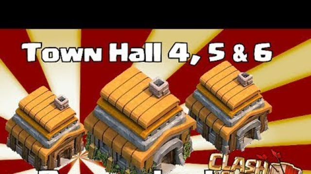 clash of clans - Town hall 4,5 & 6 Base Layouts