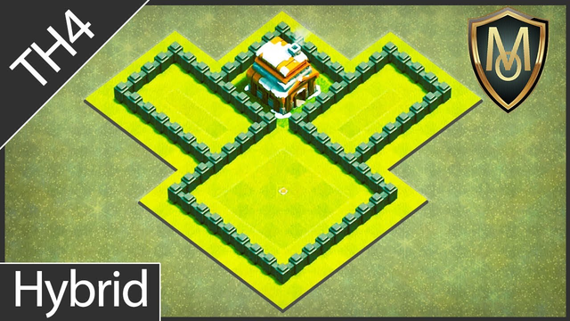 CoC Th4 Farming/Hybrid Base | Best Clash of Clans Town Hall 4 Defense with Replays | COC OneMenArmy