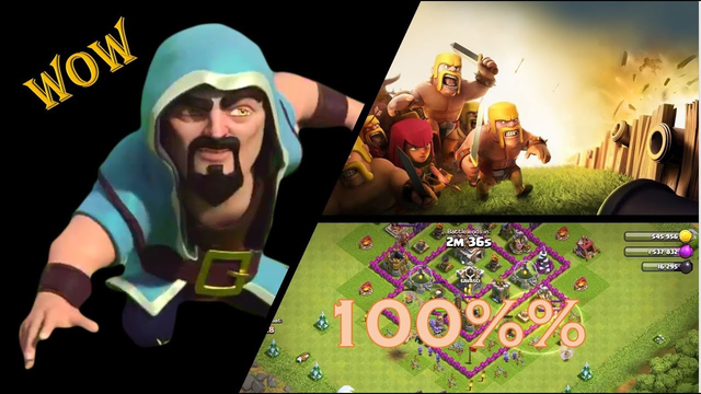 Invading Town Hall 5 | Wizard | Clash of Clans