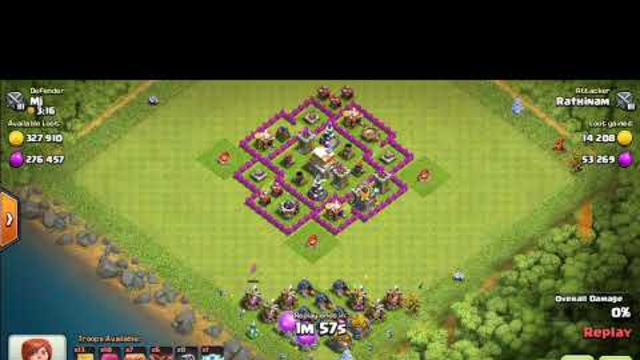 Best Defencive Base Th 6 Ever In Clash Of Clans