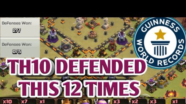 WORLD RECORD DEFENCE AT TH10, CLASH OF CLANS