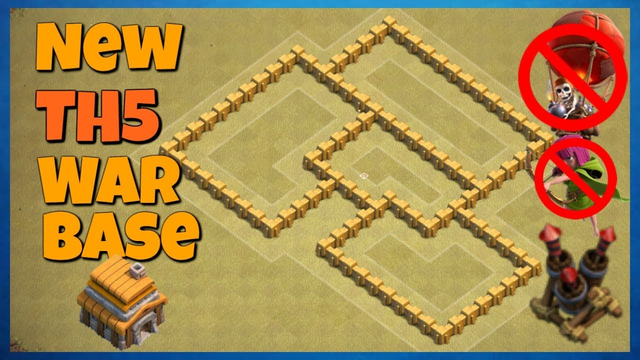 """Best TH5 War Base [Anti Loon] 2019 - """"Clash of Clans"""""""