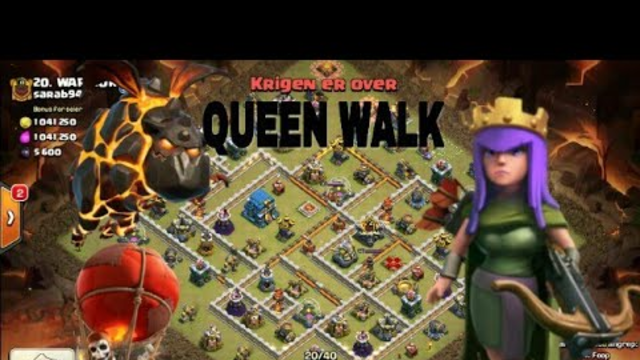 TH12 3STAR PRO SKILLED QUEEN WALK,LALOON (CLASH OF CLANS