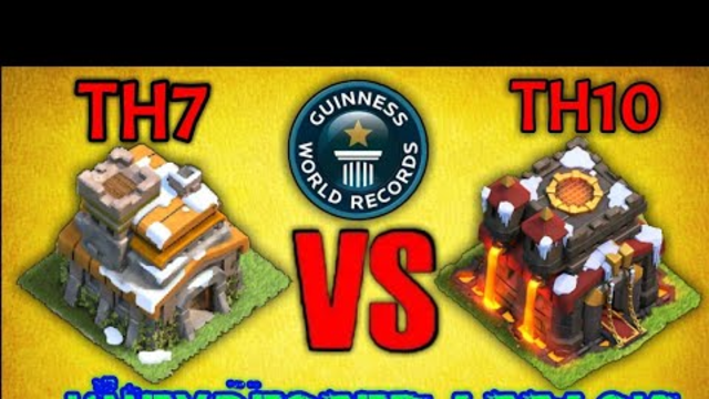 TH7 ATTACK AGAINST TH10 - UNEXPECTED ATTACK IN CLASH OF CLANS - MUST WATCH THIS VIDEO - COC