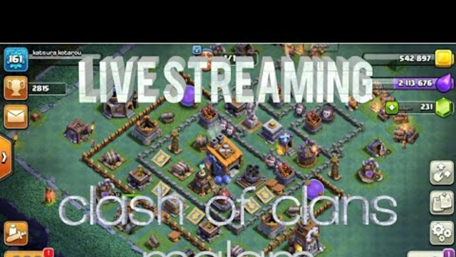Streaming Clash of Clans dunia malam