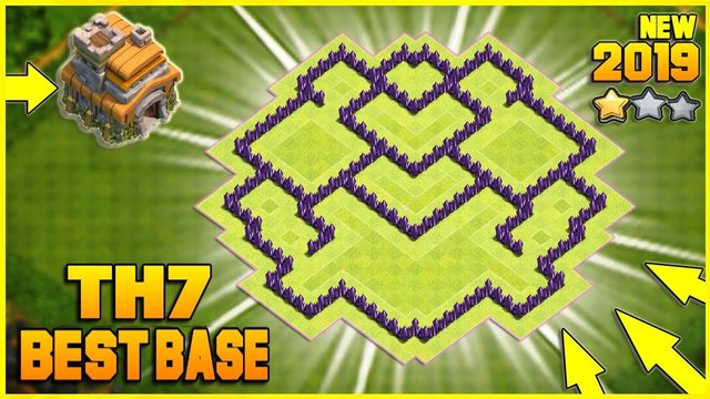 New Ultimate TH7 HYBRID/TROPHY[defense] Base 2019!! Town Hall 7 Hybrid Base Design - Clash of Clans