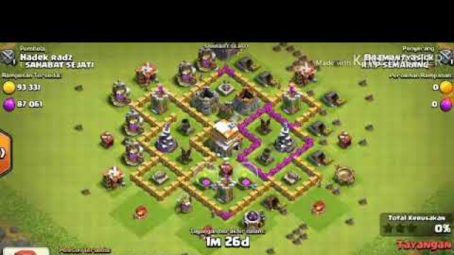 CLASH OF CLANS ATTACK !! TH 7