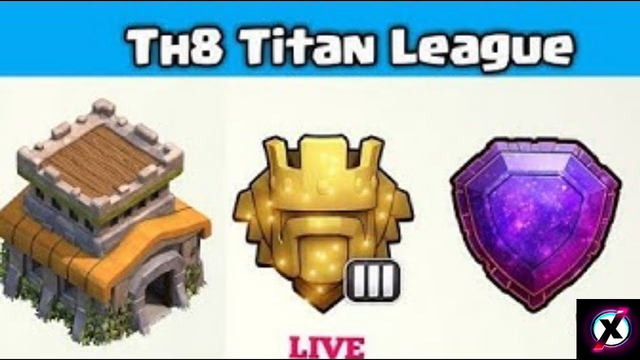 Th8 Pushing from titan to legend league | Clash of Clans