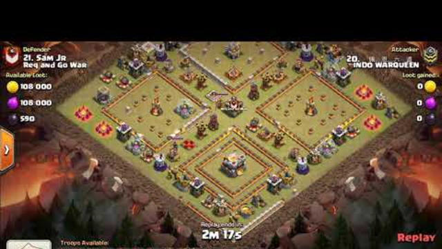 TH11 War Attack - Lavaloon The Best  - Clash Of Clans