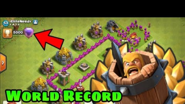 """""""TH6 New World Record Holder"""" In Clash Of Clans 