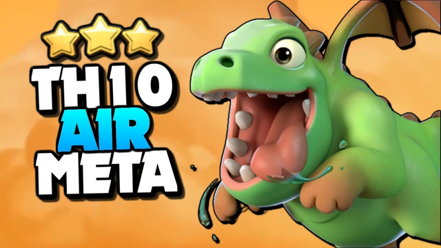 NEW TH10 Air Meta = Baby Dragons with LavaLoon and DragBat | Clash of Clans TH10 Attack Strategy!