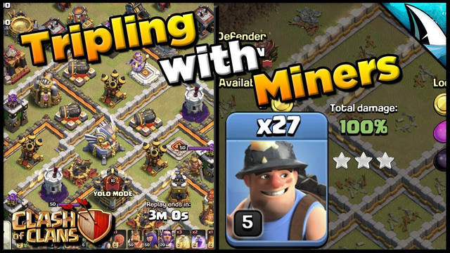 *Tripling with Miners* 3 Star Town Hall 11's | Clash of Clans