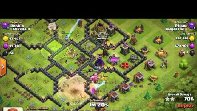 Clash of Clans Attack | Town Hall 10 | Queen Walk | ep3