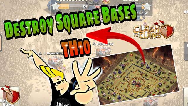 BEST Attack For Square Bases TH10 | Clash Of Clans