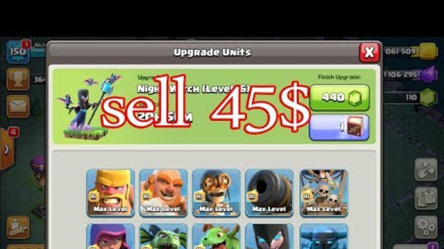 sell account clash of clans 45$ / gaming online 168- #10