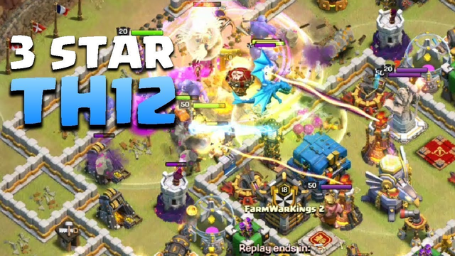 TOWN HALL 12 THREE STARS WAR ATTACKS l Clash Of Clans Romania