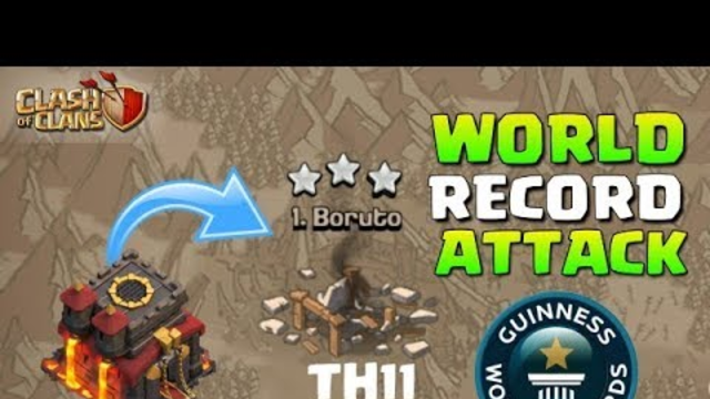 WORLD RECORD ATTACK | Th10 3 Star Fully Max Th11 - Clash of clans (COC)