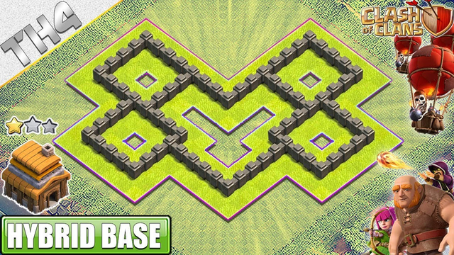 NEW Town Hall 4 (TH4) Base with REPLAY 2019 - Clash of Clans