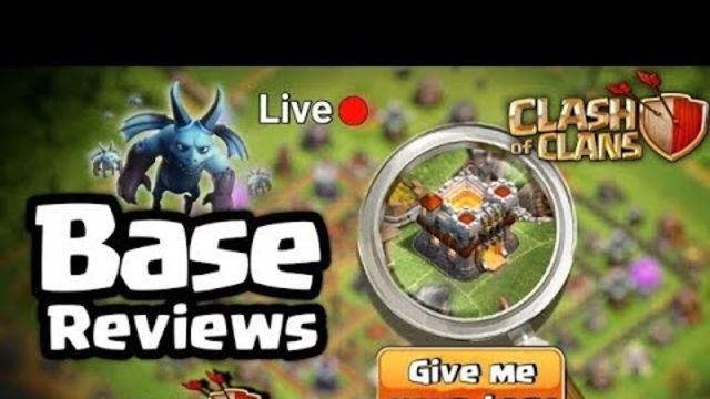 Coc base visit stream   Walker 456   clash of clans