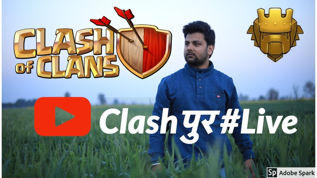 Clash of Clans live #Clashpur Day 6 COME LET's visit You