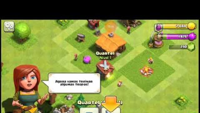 Jogando clash of clans