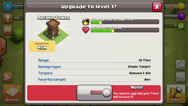 Clash of clans -maxed townhall 2 gameplay-
