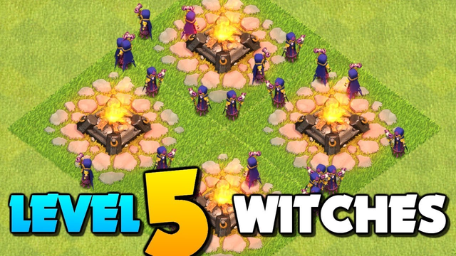 All LVL.5 Witches (x26) vs Max TH12 Base in Clash of Clans! New Update CoC 2019!