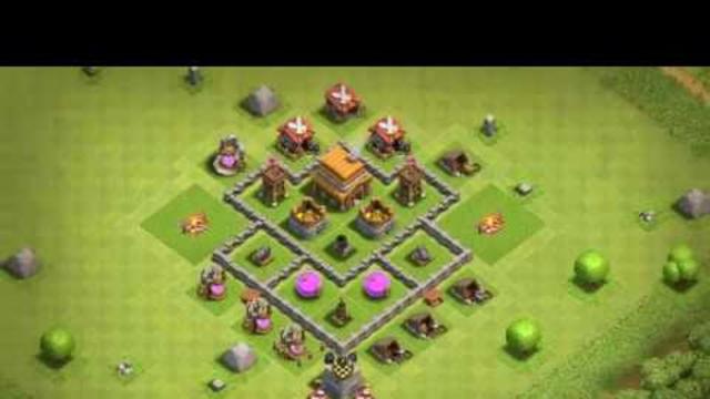 Base Coc Th 4 Terkuat 11