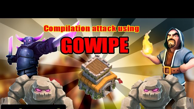 3 Stars Clan War (TH8 VS TH8): GOWIPE Attack Strategy | Clash of Clans