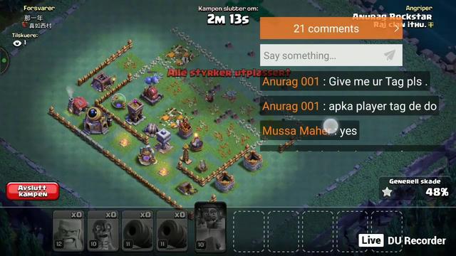 #Clash of clans Live Stream Anurag 001