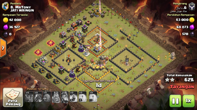 Clash Of Clan ( coc ) War Revange attack Town hall / Th 11