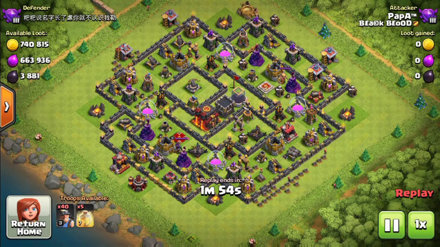 Clash of Clans Townhall 10 3 Star using Minors