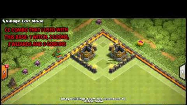 "CLASH OF CLANS MASSIVE  ""PYRAMID""  TROLL BASE"