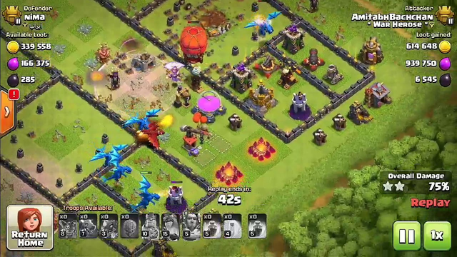 CLASH OF CLANS BEST LOOT ATTACK___!