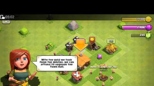 CLASH OF CLANS Town hall 1 to 2