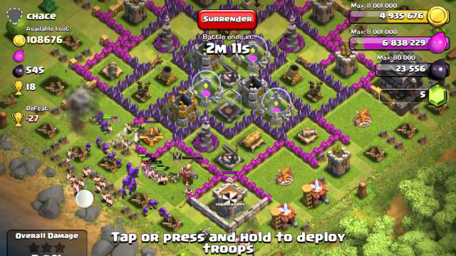 Clash of Clans  Farm Strategy - Town Hall 9 8)