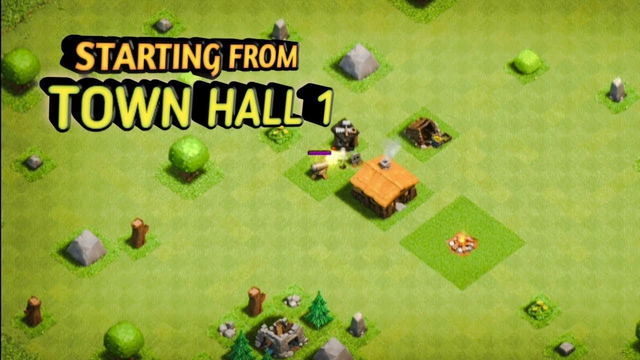 Starting from Town Hall 1 in Clash of Clans