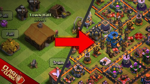 CLASH OF CLANS TH1 - TH12 | Clash of Clans