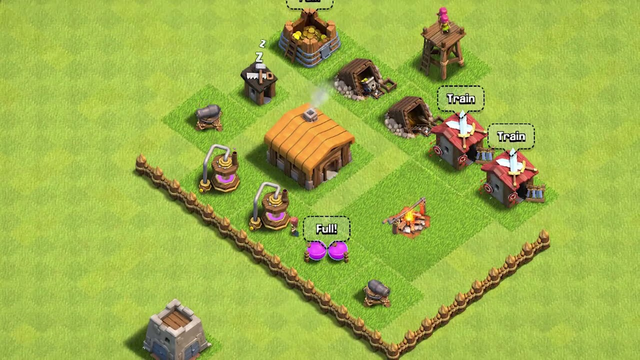 Clash of clans th 1 to th 12 in 3 minutes