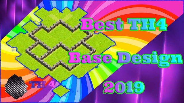 Best Town Hall 4 Base Design 2019 (Clash Of Clans)