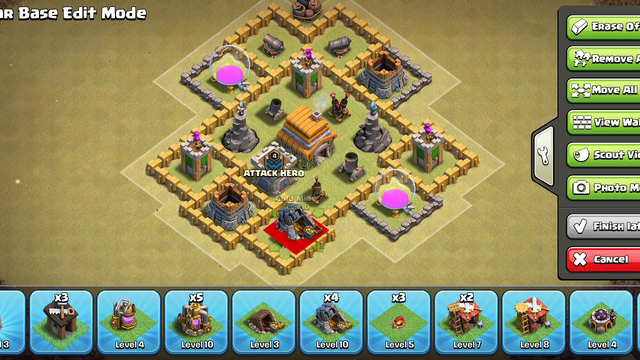 CLASH OF CLANS BEST MAP AT TOWN HALL 6 th