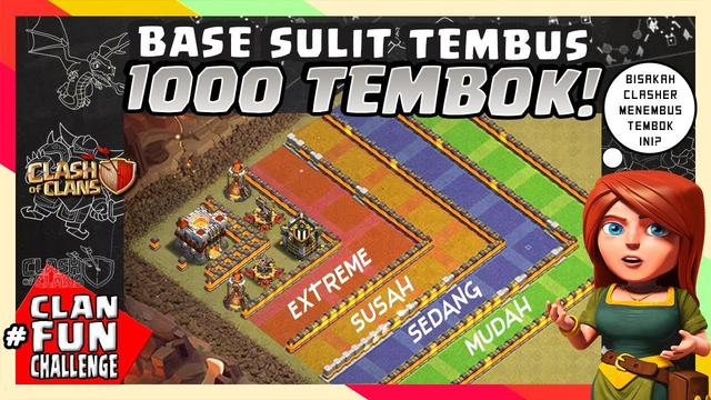 Base KERAS CoC 1000 TEMBOK Ini SULIT TEMBUS!!   CFC Indonesia