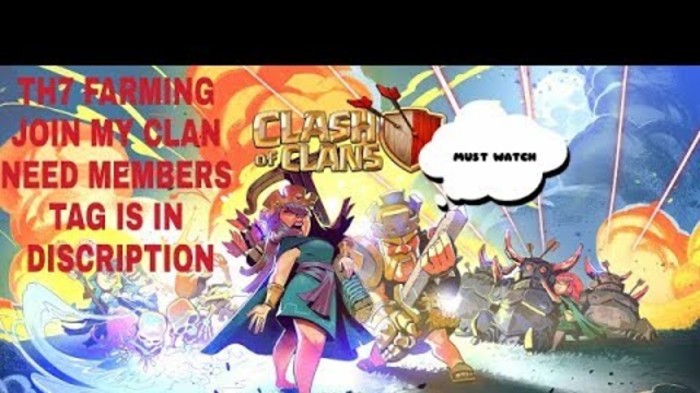 COC LIVE TH7 FARMING ROAD TO 50 SUB THX FOR WATCHINH