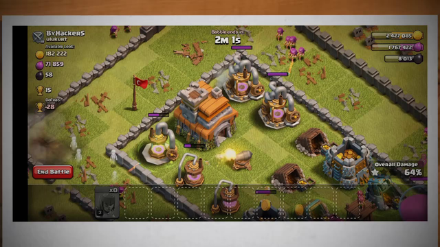 Clash of clans Lvl 3 archer attack//Town hall 7