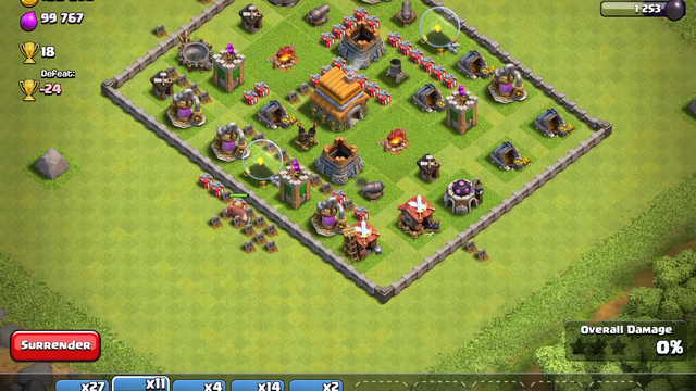 Clash of Clans TH 7 Giants, Wizards, and Healers
