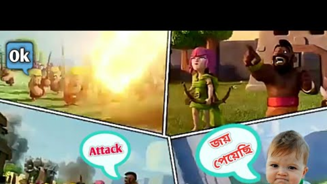 TH 7 Max Hog Rider distance attack The War 3 Star in Clash of Clans