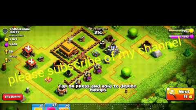 Clash of Clans get 3 stars in Town Hall 3